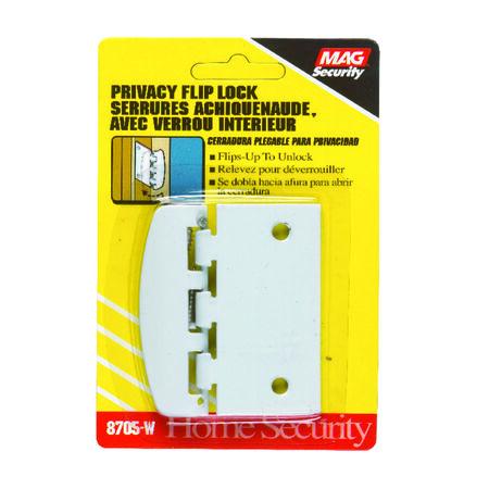 Prime-Line Sliding Door Lock Privacy 2-3/4 in. White Steel
