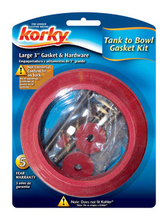 Korky Tank to Bowl Gasket 3 in. L Rubber