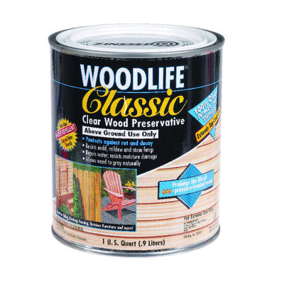 Woodlife Classic Water-Based Wood Preservative Clear 1 qt.