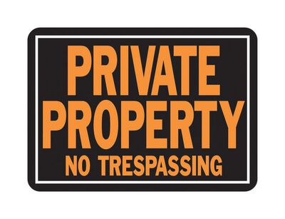 Hy-Ko English 10 in. H x 14 in. W Aluminum Sign Private Property No Trespassing