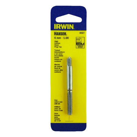 Irwin Hanson High Carbon Steel 6mm-1.00 Metric Plug Tap 1