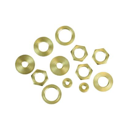 Jandorf Assorted Hex Nuts Brass 12 pk