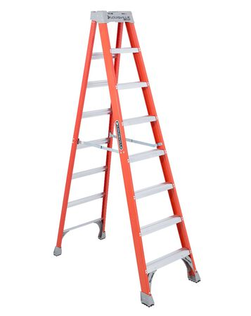 8 ft Louisville FS1508 Fiberglass Step Ladder, Type IA, 300 lb Load Capacity