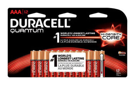 Duracell Quantum AAA Alkaline Batteries 1.5 volts 12 pk