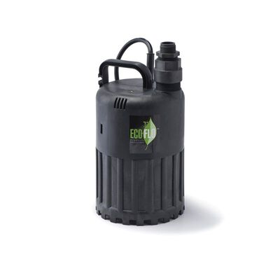 Ecoflo Thermoplastic Submersible Pump 1/2 hp 3180 gph 115 volts