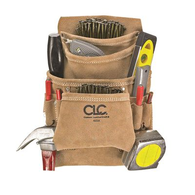CLC Suede Nail & Tool Bag 13 in. H x 10 in. L 7 outside pockets