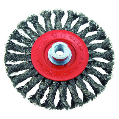 Forney 6 in. Dia. Coarse Twist Knot 5/8 in. -11 in. Wire Wheel Brush 9000 rpm