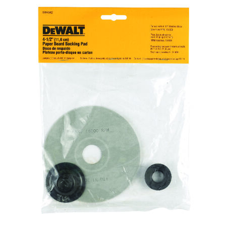 "4-1/2"" paper backing pad with 5/8""-11 arbor"