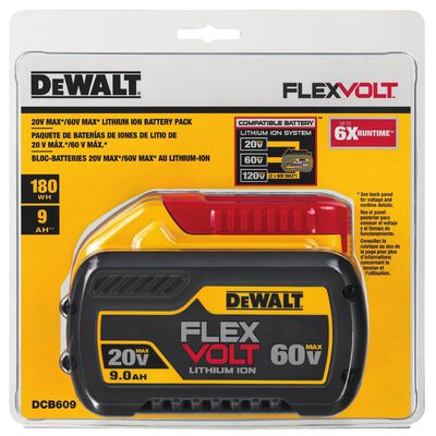 DeWalt FLEXVOLT 20/60V MAX Lithium-Ion Battery 9Ah