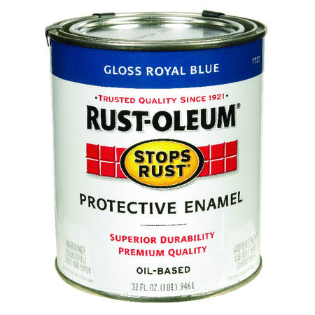 Rust-Oleum Stops Rust Gloss Royal Blue Oil-Based Alkyd Protective Enamel Indoor and Outdoor