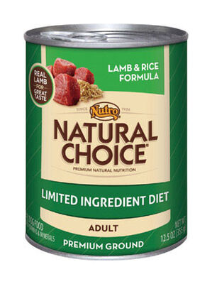 Nutro Natural Choice Limited Ingredient Adult Lamb and Rice Dog Food 12.5 oz.