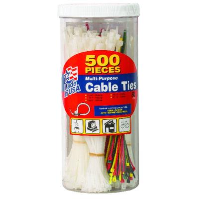 "Gardner Bender 4"" 6"" 8"" L Assorted Cable Tie 500 pk"
