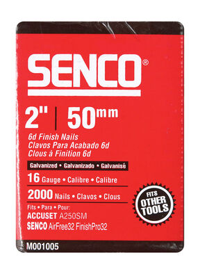 Senco 2 in. L 16 Ga. Galvanized Straight Finish Nails 2 000 pk