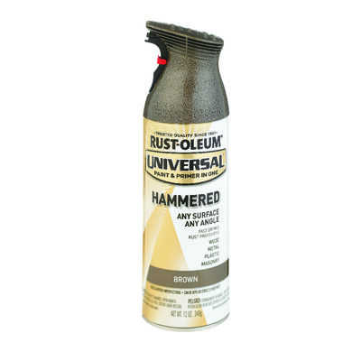 Rust-Oleum Universal Paint & Primer in One Brown Hammered Hammered Spray 12 oz.