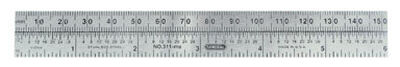 General Tools Precision Pocket Rule 6 in. L x 3/4 in. W