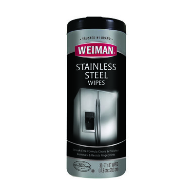 Weiman 30 pk Stainless Steel Cleaner Wipes