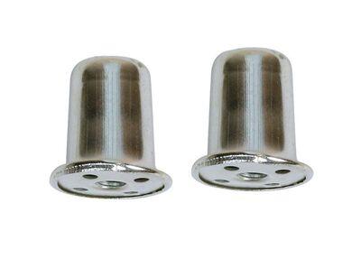 Jandorf Top Hat Finial Nickel 1 in. H 2 pk