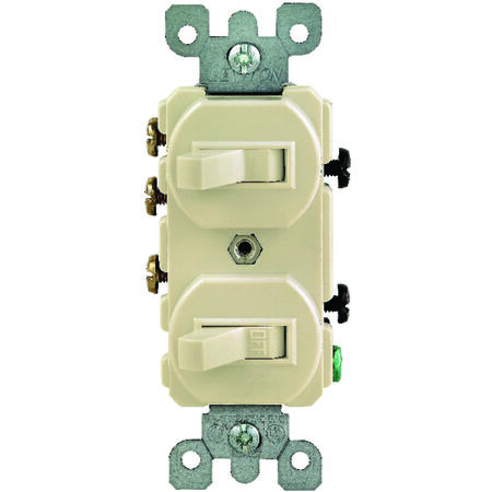 Leviton 1 15 amps Ivory Three-Way Combination Switch 1 Combination