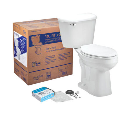 Mansfield Pro-Fit 3 Elongated Complete Toilet 1.6 ADA Compliant White