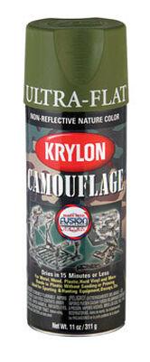 Krylon Woodland Light Green Flat Camouflage Spray Paint 11 oz.