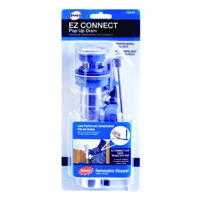 Danco EZ Connect 1-1/4 in. Dia. Brass Pop Up Lavatory Drain