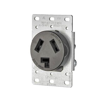 Leviton Electrical Receptacle 30 amps 10-30R 125/250 volts Black