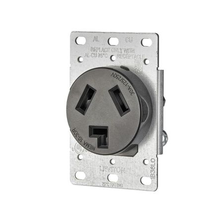 Leviton Electrical Receptacle 30 amps 10-30R 125/250 volts Black