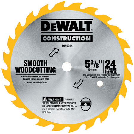 "5-3/8"" 16T Carbide Saw Blade (Fast Woodcutting)"