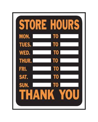 Hy-Ko English 12 in. H x 9 in. W Plastic Sign Store Hours