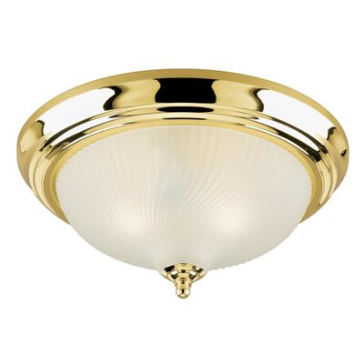 Westinghouse Polished Brass Ceiling Fixture 6-1/8 in. H x 13 in. W