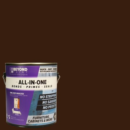 BEYOND PAINT Matte Mocha Water-Based Acrylic All-In-One Paint 1 gal.