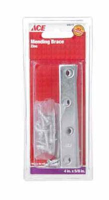 Ace Mending Brace 4 x 5/8 Zinc 4 pk Carded