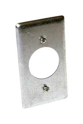 Raco Rectangle Steel Electrical Cover For 1 Receptacle