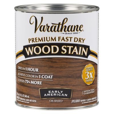Varathane Premium Fast Dry Semi-Transparent Oil-Based Wood Stain Early American 1 qt.