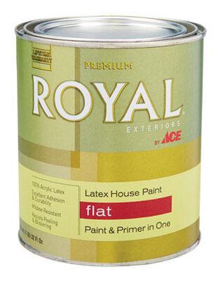 Ace Royal Acrylic Latex House Paint & Primer Flat 1 qt.