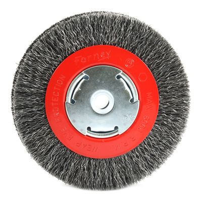 Forney 6 in. Dia. Crimped 5/8 in. Wire Bench Wheel Brush 6000 rpm