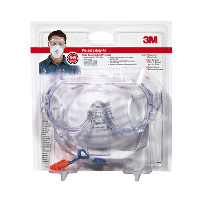 3M Tekk Multi-Purpose Project Safety Kit Clear Lens Clear Frame Carded