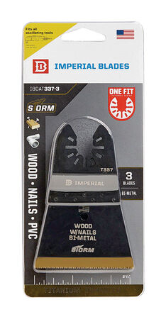 "Imperial Blades One Fit 2-1/2"" Storm Titanium Wood & Nails Blade, 3PC"