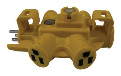 Ace Grounded 5-Outlet Adapter Yellow 15 amps 125 volts 1 pk