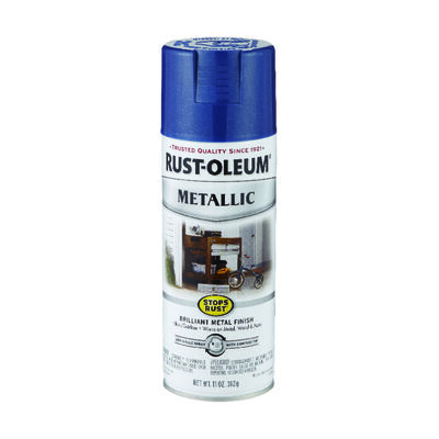 Rust-Oleum Stops Rust Cobalt Blue Gloss Metallic Spray 11 oz.