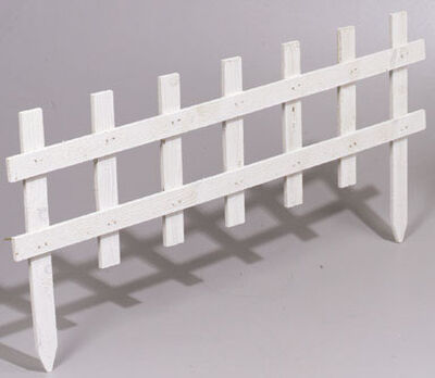 Greenes 18 in. H x 3 ft. L White Wood Garden Fence