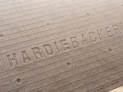 """Hardie Backer cement backerboard 3' x 5' x 1/4"""""""