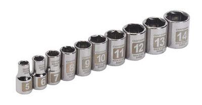Craftsman Easy-to-Read Metric 10 pc. Steel 1/4 in. Drive Socket Set