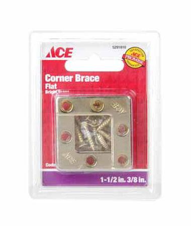Ace Flat Corner Brace 1-1/2 in. x 3/8 in. Brass