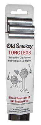 Old Smokey Steel Grill Legs 31 in. H x 3 in. W x 2 in. D 12 in.