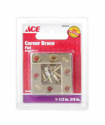 Ace Flat Corner Brace 1-1/2 in. x 3/8 in. Brass
