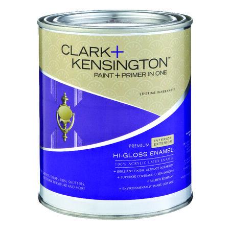 Clark+Kensington Interior/Exterior Interior/Exterior Acrylic Latex Enamel Paint Designer White 1
