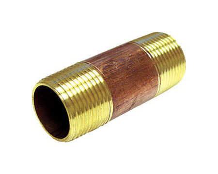 Ace 3/4 in. MPT x 3/4 in. Dia. MPT Red Brass Pipe Nipple