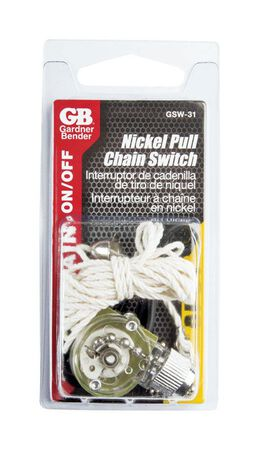 Gardner Bender Nickel 6 amps SPST Pull-Chain Switch
