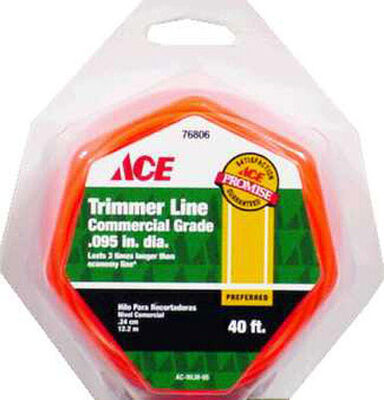 Ace Commercial Trimmer Line 0.095 in. Dia. x 40 ft. L 2 refill
